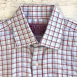 CHARLES TYRWHITT Check Plaid Button Down Shirt
